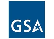 logo for U.S. General Services Administration, blue square with letters 'G S A'