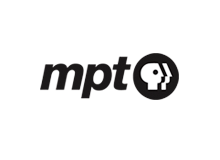 logo for Maryland Public Television with letters 'mpt' and a logo of a face