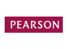 rectangular logo with red background and 'Pearson' in white text