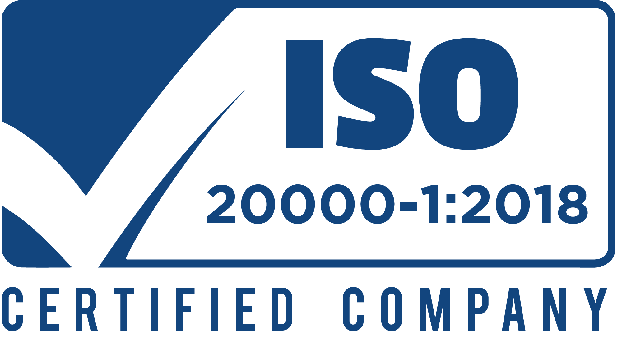 ISO 20000-1-2018 certified company