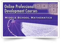 Online professional development courses middle school mathematics